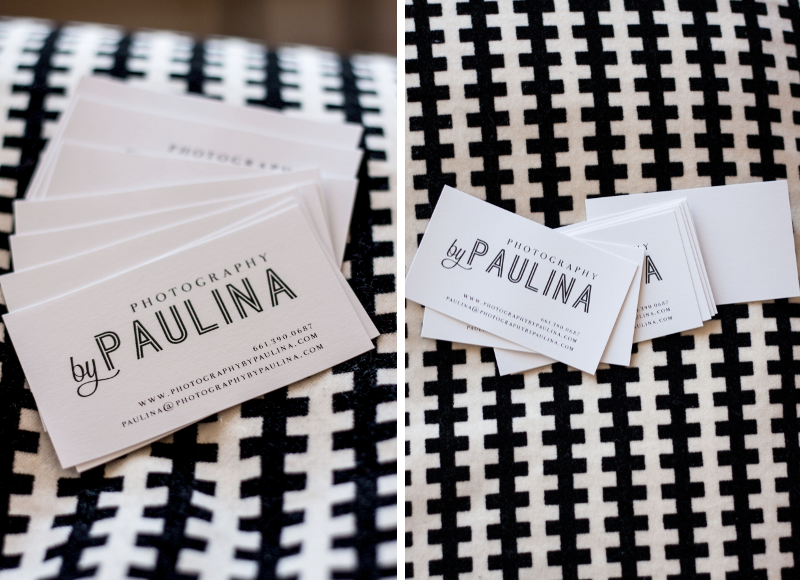 photography by paulina first business cards