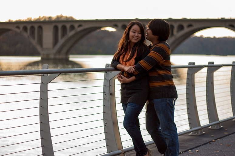 georgetown waterfront couple's portraits