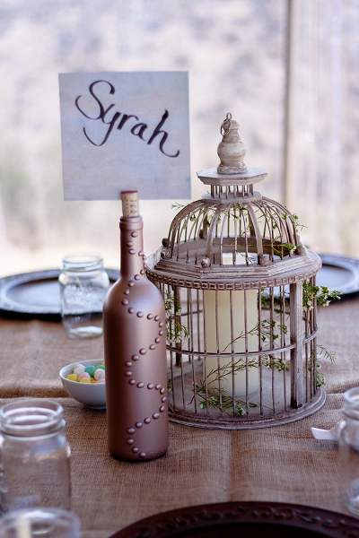 birdcage table settings los angeles wedding photos