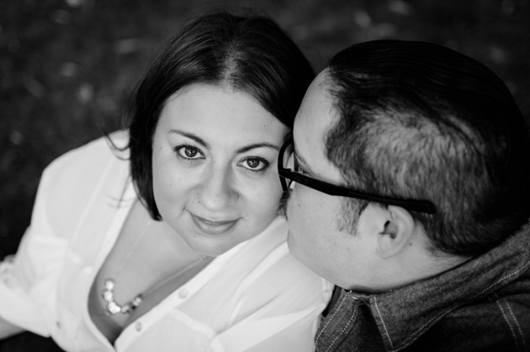 photography by paulina los angeles engagement black and white photo