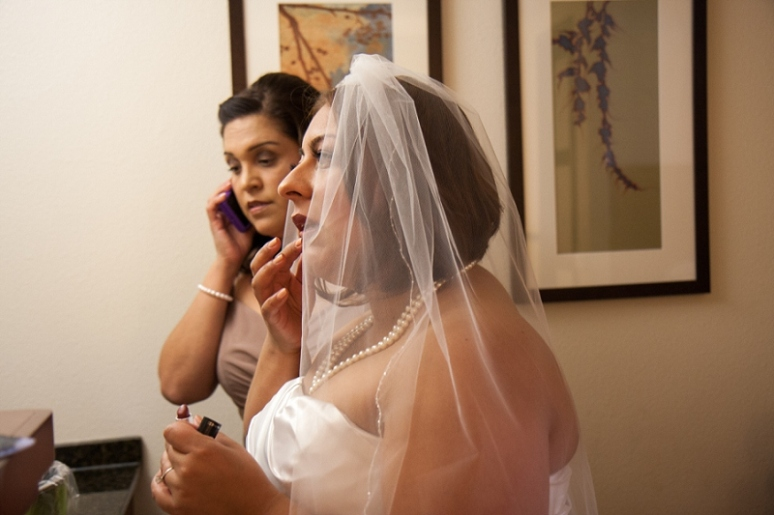 hyatt chino hills wedding bride getting ready photo
