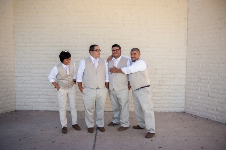 los angeles groomsmen wedding photo