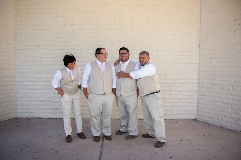 los angeles groomsmen wedding photo