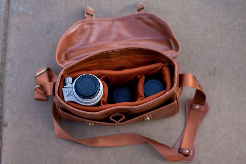 wedding and portrait photography camera bag photo