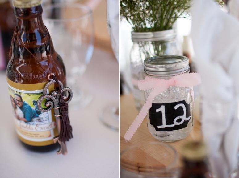 chalkboard mason jar wedding photo