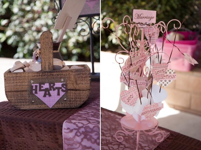heart wedding details photo