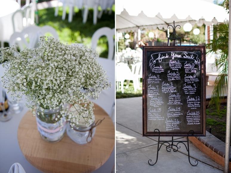 chalkboard wedding table sign photo