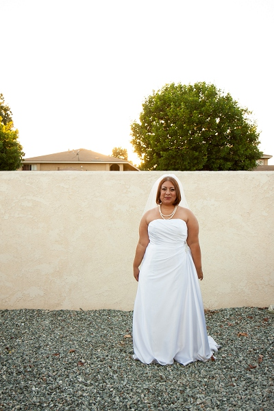 sunset bridal portrait la wedding photo