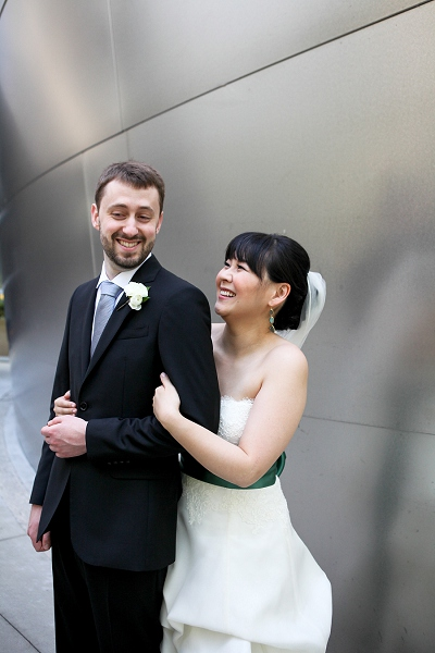 photography by paulina walt disney concert hall wedding photo