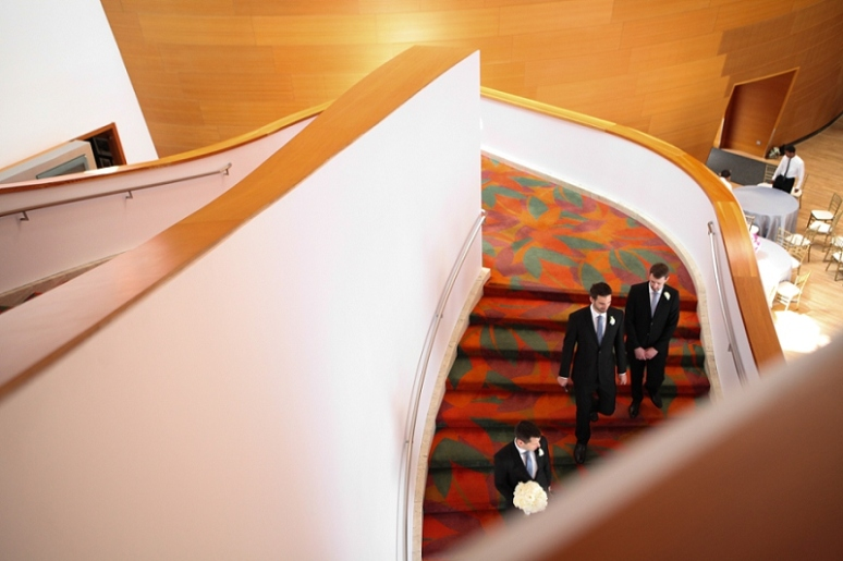 walt disney concert hall wedding photo